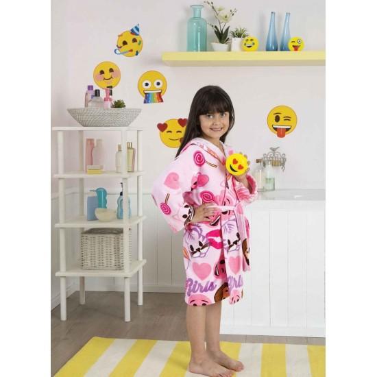 Textile pentru copii/tineri - Halat de baie Emoji