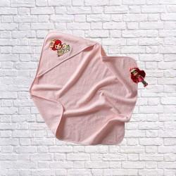 Prosop cu glugă  p/u bebeluși Roz