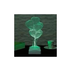 Lamba 3D Baloane cu inimioare 14x29 Cm