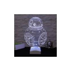 Lampa 3D Bb-8 17x26 Cm