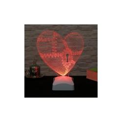 Lamba 3D Inima 22x25 Cm