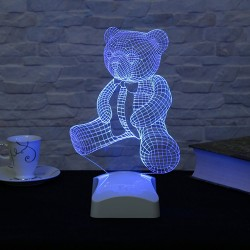 Lampa 3D  Ursuleț Teddy 16x26 cm