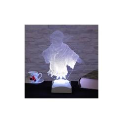 Lamba  3D Yoda 21x26 Cm