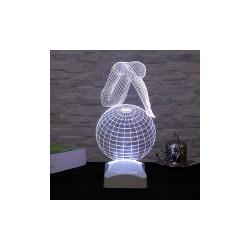 Lampa 3D Fată gînditoare 14x27cm