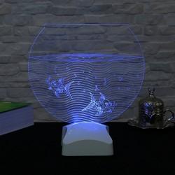 Lampă 3D pește în acvariu 23x24