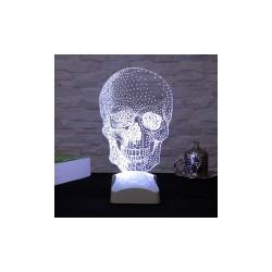 Lampă 3D craniu 15x26cm