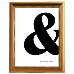 Poster Bold Ampersand in Ramă