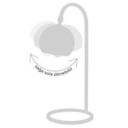 Lampă de masă neagră Seria Fivorno Moddy