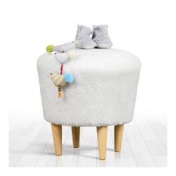 Puf Sheep Rotund-Alb
