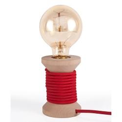 Lampa de masa roșie