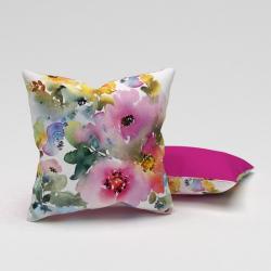 Erenev Fata de pernă acuarelă colorată cu flori frumoase 43x43 cm