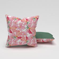 Erenev Pernă decorativă pernă de flori roz Yasemen 43X43 cm
