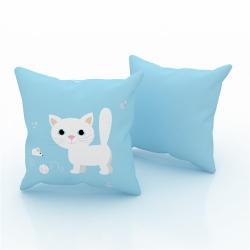 Erenev Pernă decorativă albastră deschisă de șoarece de pisică 43x43 cm