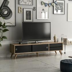 Comode TV Alb/Nucă