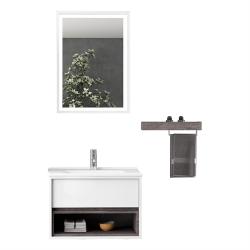 Set Mobilier pentru baie, 4 piese , 55 cm / 100cm