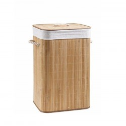 Murdar coș de rufe Bamboo Plierea Single Hopper Naturel