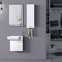 Set Mobilier pentru baie, 4 piese, 96 cm