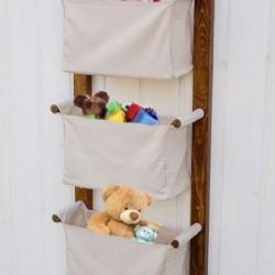 Fabric din lemn Bucket Organizator, Editor, coș de jucărie, baie, bucatarie Editor 3 Etaj