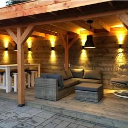 Duplex de perete Lampă de iluminat 1. Calitatea de plastic Caseta cu două fețe