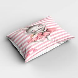 Roz și alb Striped gri Else Tavsanli 3d Patterned Balerina dormitor pernă 50x70cm