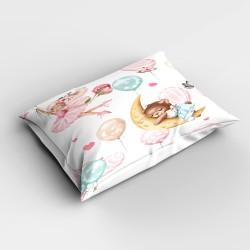 Else roz Balerina dormit Ursul Baloanele 3d Patterned dormitor pernă 50x70cm