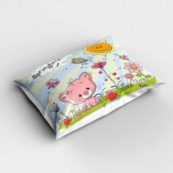 Else roz pisică cu 3D model de dormitor pernă 50x70cm