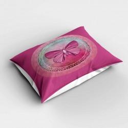 Else roz fluture model 3d dormitor pernă 50x70cm