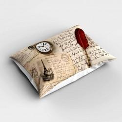 Else Scris 3d retro Patterned dormitor pernă 50x70cm