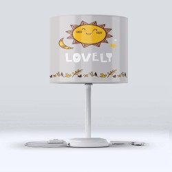 Else Yellow Sun Flowers Gray Patterned Lampshade Camera Copiilor