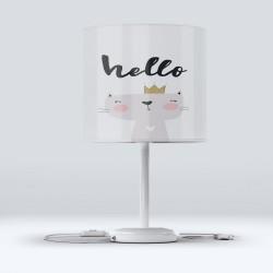 pisicuțe Else Gray încoronată Hood Fabric Lampshade Modern camera pentru copii