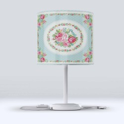 Else verde Trandafiri roz Hood Fabric Lampshade Modern Living