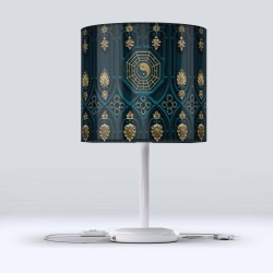 Else Verde Galben Condus otoman Fabric Lampshade Modern Living