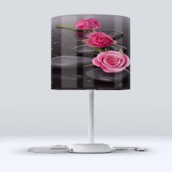 Modern Salon Spa roz Flori Else piatră pânză Cap Lampshade