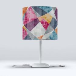 Roz Verde Modern Patchwork Fabric Lampshade Shop Else Hood