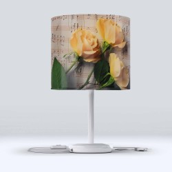 Else Yellow Roses Hood Fabric Lampshade Modern Living