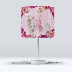 Modern camera pentru copii Roz Printesa Else Hood Montat Fabric Lampshade