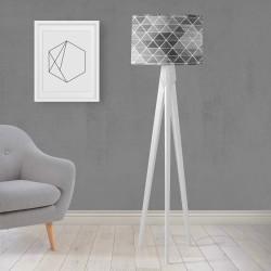 Shade Else Gri Negru gravată din lemn de design trepied Lampă