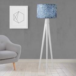 Shade Else gravată Wood design Trepied Lamp