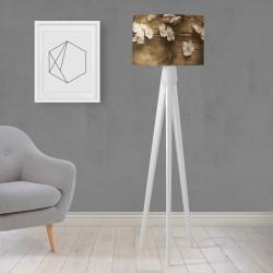 Model Else lemn alb flori din lemn Trepied Lampa de design