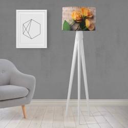 Shade Else Yellow Roses gravată din lemn de design Trepied Lamp