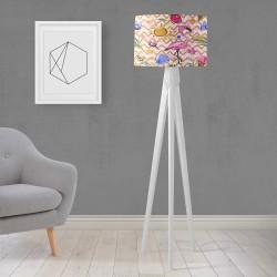 Shade Else Filamingo roz Patterned din lemn de design trepied Lampă