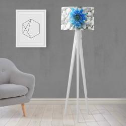 Model Else pietre albastre de flori din lemn Trepied Lampa de design