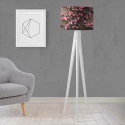 Shade Else Trandafiri roz gravată din lemn de design Trepied Lamp