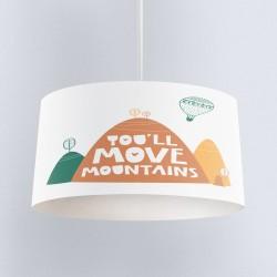 Else Yellow Orange Green Mountains 3D Patterned copii Cameră pandantiv Chandelier