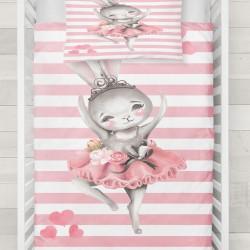Else Pink bunny 3D White Lines model Baby seturi Duvet