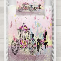 Else roz fluture printesa trăsuri model 3d Baby seturi Duvet