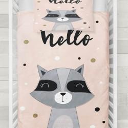Seturi Else negru roz drăguț copil raton 3d Patterned Duvet