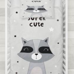 Seturi Else gri negru drăguț copil raton 3d Patterned Duvet