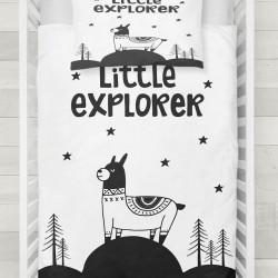 Seturi Else mici Exploratori Lamar 3d Patterned negru și alb pentru copii Duvet