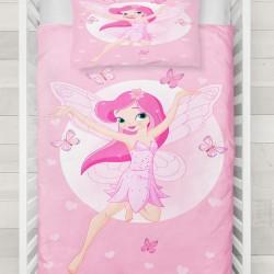 Model Else roz zână fata fluture 3d Baby seturi Duvet